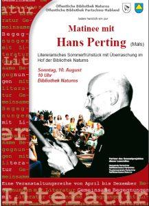 Hans Perting - Matinee - Literarisches Sommerfrühstück
