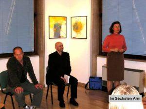 Kühebacher und Perting bei einer Lesung in Mailand