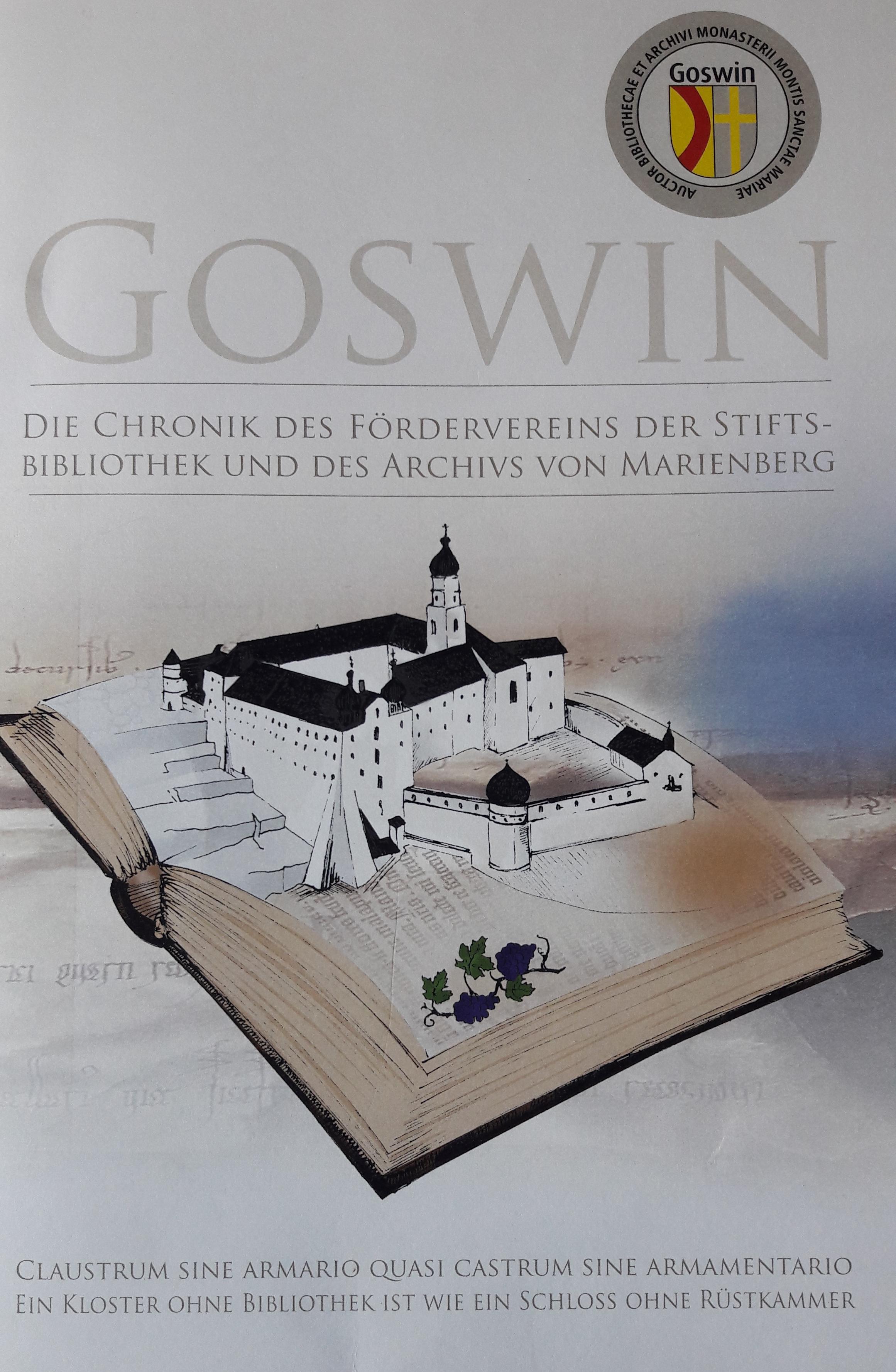 Die Chronik des Fördervereins der Stiftsbibliothek und des Archivs von Marienberg